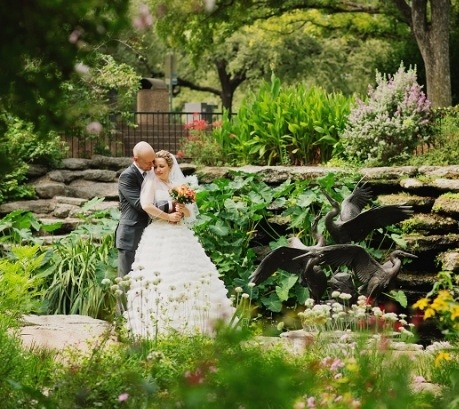 Wedding at the fort worth botanic garden beautiful scenic romantic for Fort worth botanical gardens hours